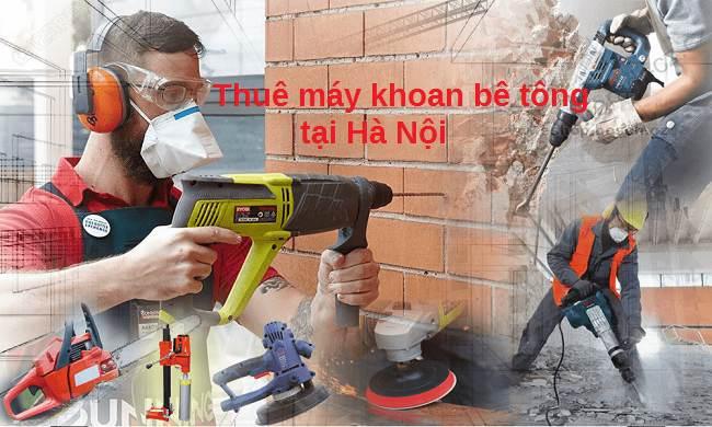 thuê máy khoan bê tông tại Hà Nội