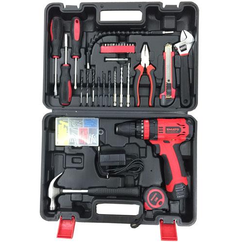 Bộ dụng cụ sửa chữa đa năng có máy khoan pin 94 chi tiết
