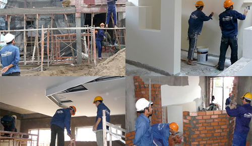 Dụng cụ cầm tay dành cho thợ xây