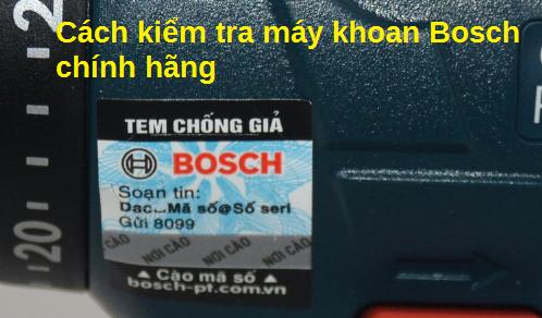 kiểm tra máy khoan Bosch chính hãng