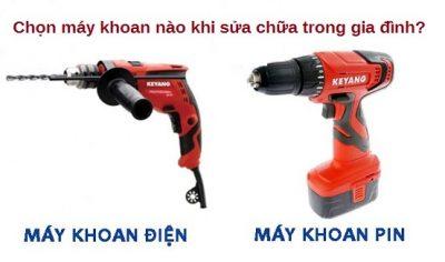 chọn máy khoan điện hay máy khoan pin?