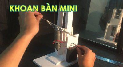 Sử dụng máy khoan bàn mini